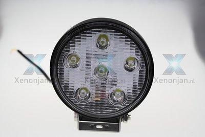 18 Watt ronde werklamp 6-leds 12V en 24V