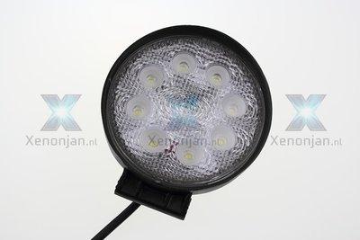 24 Watt ronde werklamp 8-leds 12V en 24V