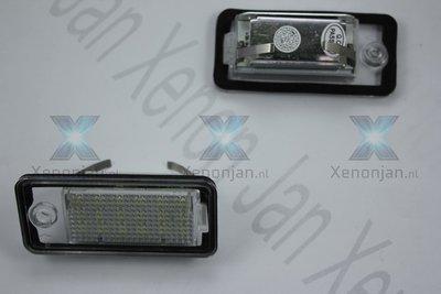 Complete vervanging kentekenverlichting Audi voor led o.a. A4 2004-