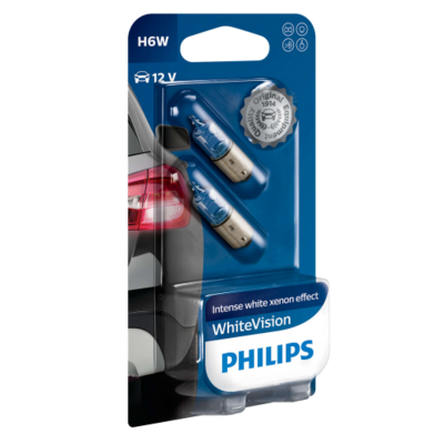 Philips H6W BAX9S WhiteVision 12036WHVB2